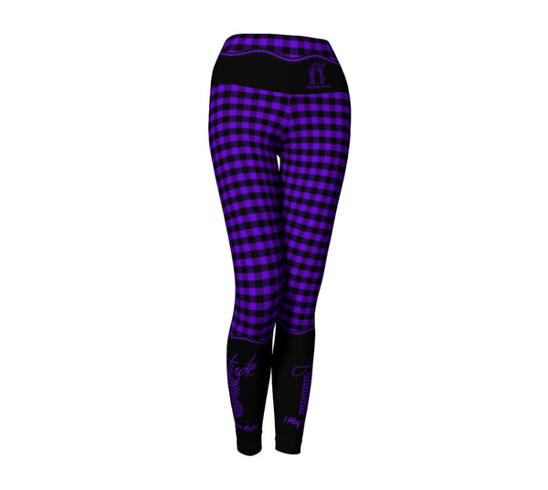 Attitude 13 Purple Flannel Design Leggings
