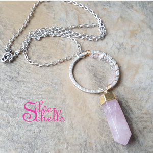 Handcrafted Soulful Romantic Rose Quartz Necklace