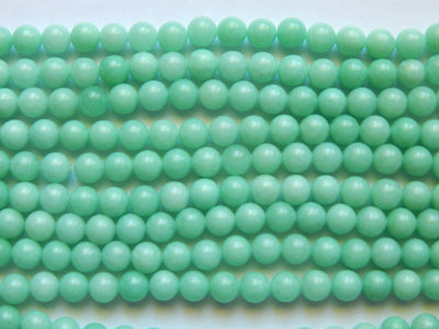 Amazonite 8mm Round Beads Mint Blue-Green