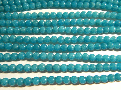 Blue Sponge Quartz 6mm Round Beads