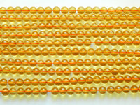 Citrine 8mm Round Beads AA Grade