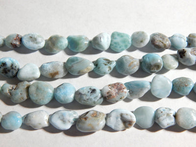 Dominican Larimar Irregular Nugget Beads Approximately 7-11mm