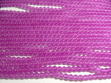 8mm Violet Malaysia Jade Polished Round Gemstone Beads, Half Strand (INDOC51)