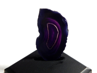 Dark Purple Brazilian Agate Slice Gemstone UnDrilled Pendant for Display or Wire Wrapping (N4-INDOC80)