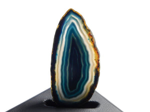 Polished Agate Slice Dark Teal, Grey, & Black Approximately 73X35X5mm