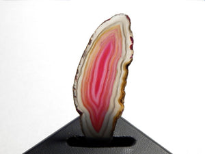 Polished Agate Slice Pink & Grey Approximately 78X31X4mm
