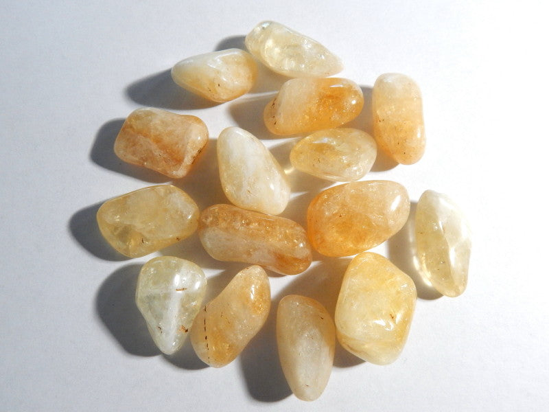 Citrine Tumbled Stone , 1 PC (INDOC32)