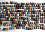 10mm Mixed Color Lava Rock Gemstone Beads, 15.25 Inch Strand (IND1C356)