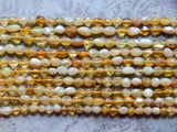 5-7X5-8mm Natural Yellow Opal Polished Gemstone Pebble Nugget Beads, 15.5 Inch Strand (IND2C42)