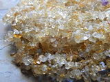 5X8mm Citrine Natural Semi-Precious Chip Beads, 34 Inch Strand (IND1C46)