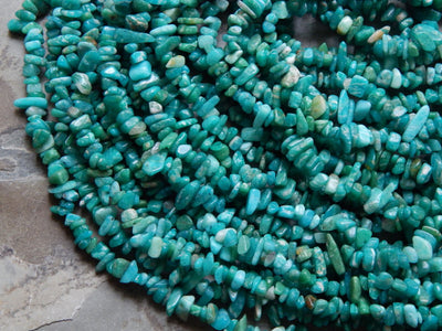 Russian Amazonite Chip Beads Approximately 5X8mm