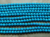 Turquoise Howlite 8mm Round Beads