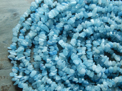 Aquamarine Chip Beads Approximately 5X8mm