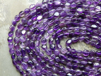 Amethyst Pebble Nugget Beads Approximately 7-9mm