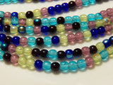 4mm Gemstones Czech Pressed Druk Glass Bead Mix, 100 PC