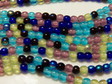Czech Pressed Druk Glass 4mm Round Beads Mixed