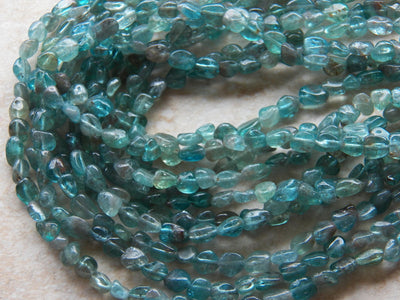Apatite Pebble Nugget Beads Approximately 6-10mmX6-12mm