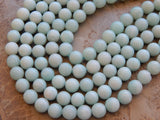 10mm A Grade Amazonite Polished Round Semi-Precious Beads, Half Strand (IND2C46)