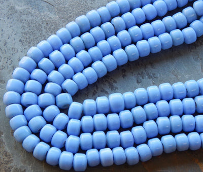 Glass Crow Beads Opaque Angelite Blue 9mm