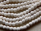 10-11X9-10mm White Lava Rock Stone Beads, Half Strand (INDOC81)