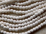 Lava Rock Stone White Beads  Approximately 10-11mm X 9-11mm
