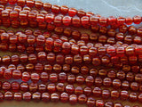 5mm Sunset Maple - Czech Pressed Fluted Melon Glass Beads, 25 PC (INCM495)