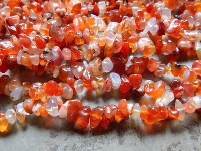 Natural Carnelian Chip Beads Approximately 5X8mm