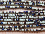 4mm Midnight Iris Pale Turquoise - Precisoa Traditional Czech Fire Polished Glass Beads, Full Strand / 50 PC (INCZ6858)