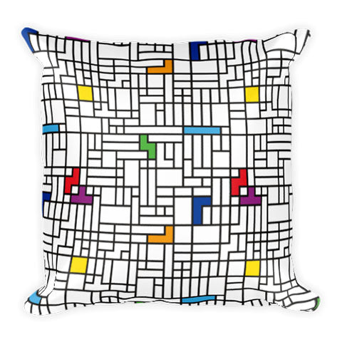 Modern Art Tetris Pillow