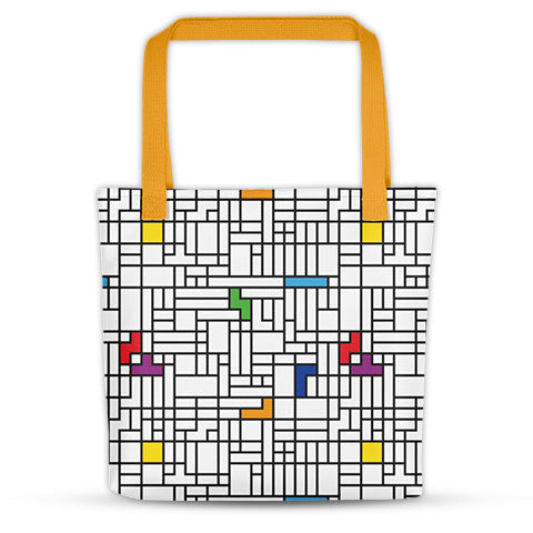 Modern Inspired Tetris Tote Bag