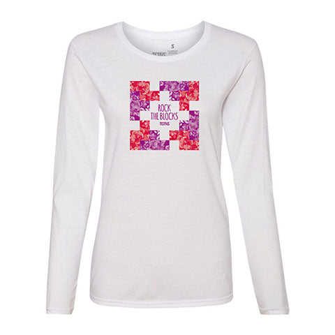 Tetris Floral Collection Rock the Blocks Women's Long Sleeve Shirt