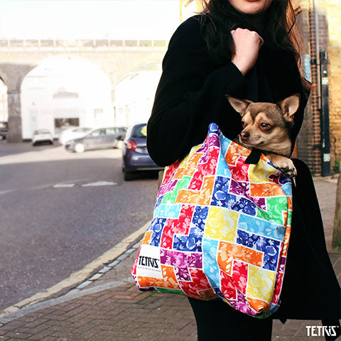 Tetris Floral Collection Tetrimino Tote Bag