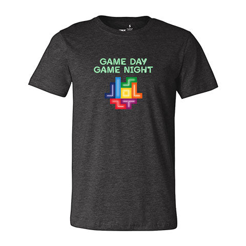 Tetris Neon Collection Game Day Game Night Men's Shirt