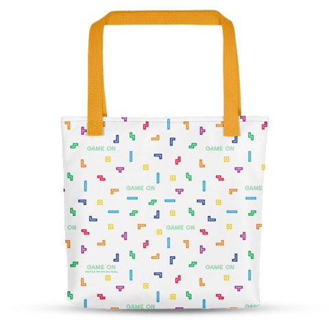 Tetris Neon Collection Game On Tote Bag