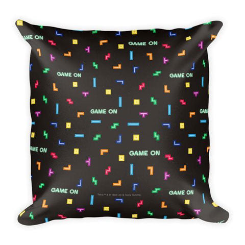 Tetris Neon Collection Tetris Life Game On Pillow