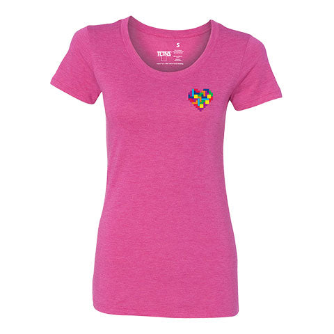 Tetris Color Love Women's Shirt Pink