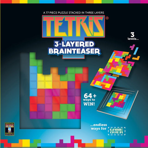 Tetris MasterPieces 3-Layered Brainteaser, 77-Piece