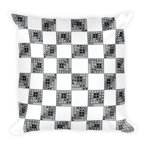 Tetris Chess Crossover Pillow Front