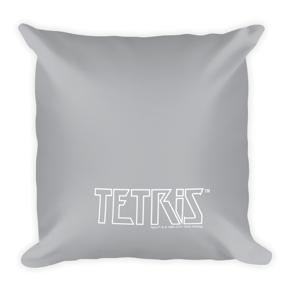 Tetris Chess Crossover Pillow Back
