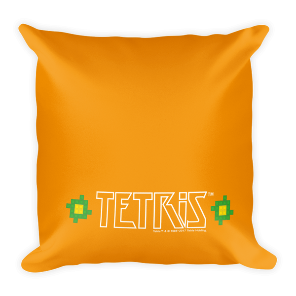 Tetris Green Tumb Pillow Back
