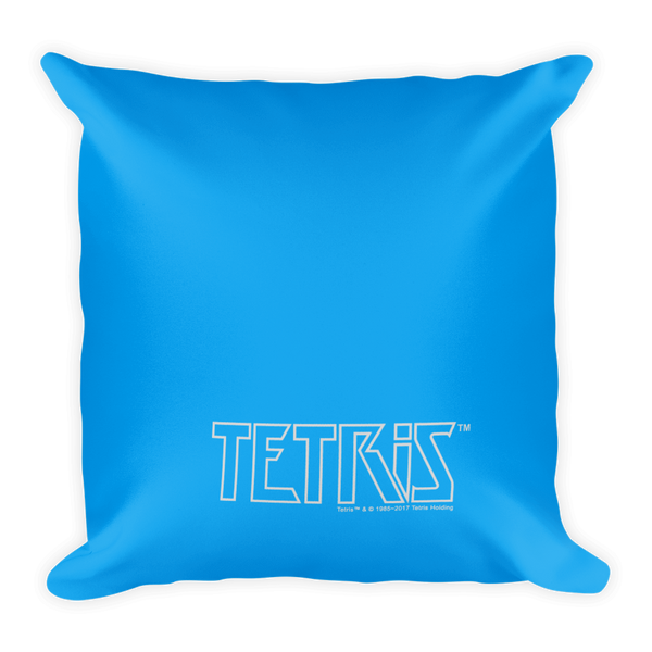 Tetris Matrix Mayhem Pillow Back