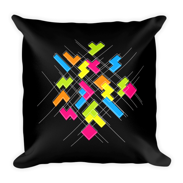 Tetris Matrix Mayhem Pillow Front
