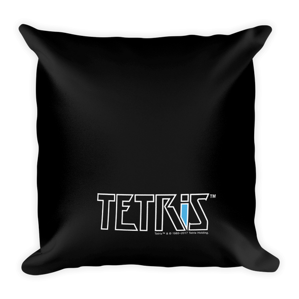 Tetris Mondrian Pillow Back