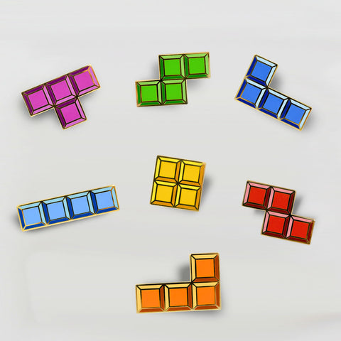 Tetris Tetrimino Full Pin Set