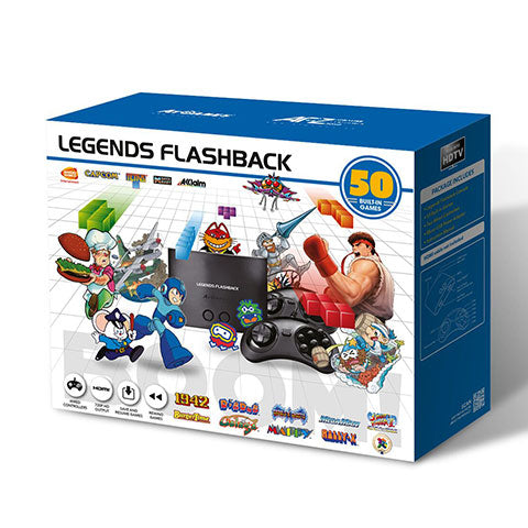 Legends Flashback BOOM! HDMI Game Console, 50 Games