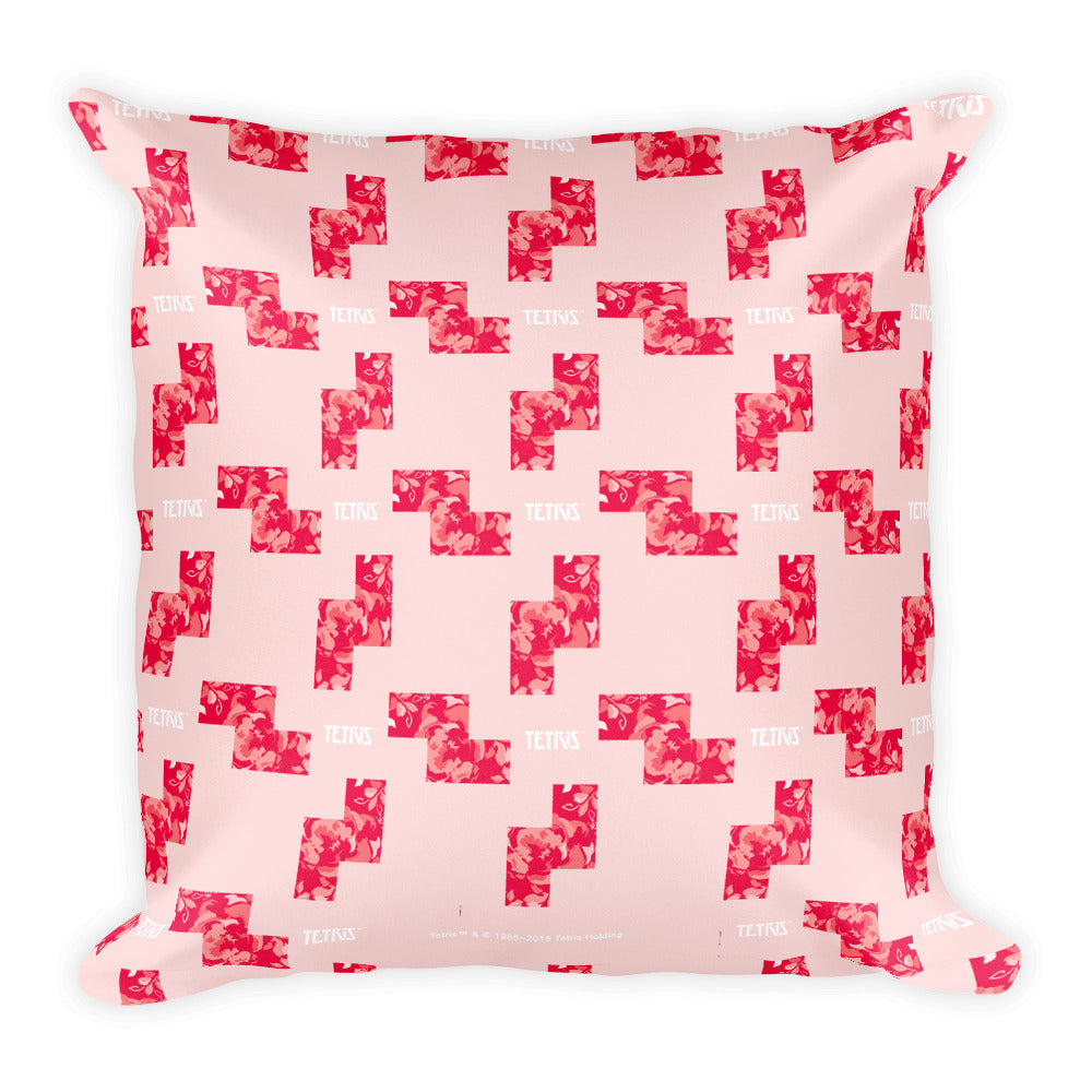 Tetris Floral Collection Z Tetrimino Pillow