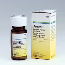 Tablets, ACETEST TABS, BAYER #2381, 100/BOTTLE
