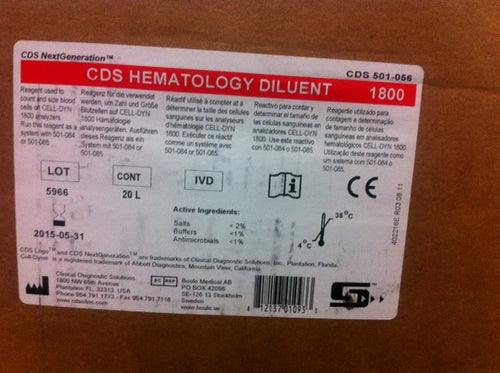 CDS DILUENT, 20 L, #501056, CD1800