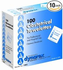 OB Towelettes, #1302, Dynarex, 100/box