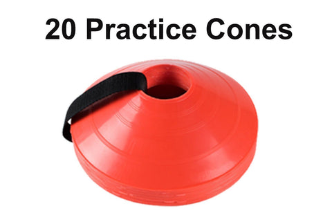 20 Bright Soccer Practice Cones - Perfect to mark field or setup drills